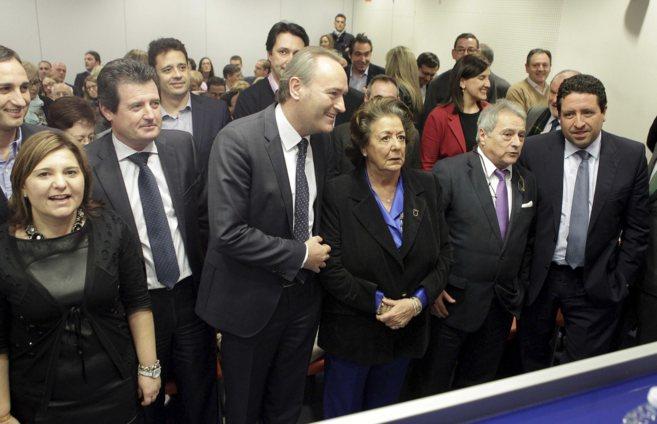 Bonig, Císcar y Fabra, a la izquierda, el día de su designación...