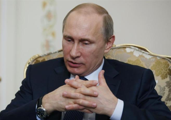 El presidente ruso Vladimir Putin durante una reunión con su...