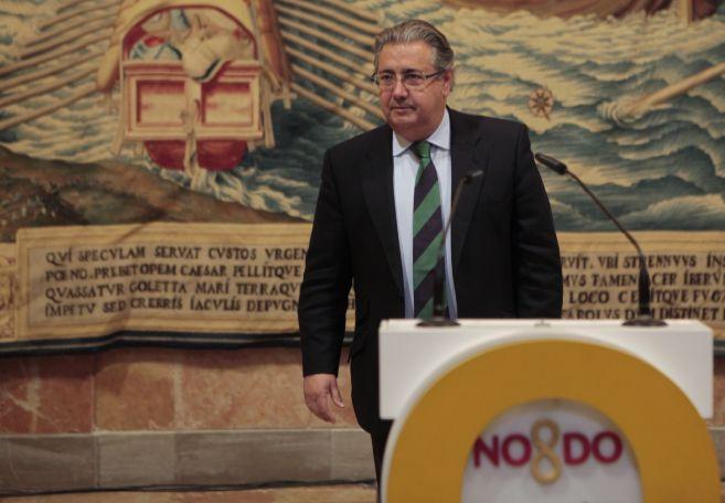 Juan Ignacio Zoido, este lunes en la presentación de los actos del...