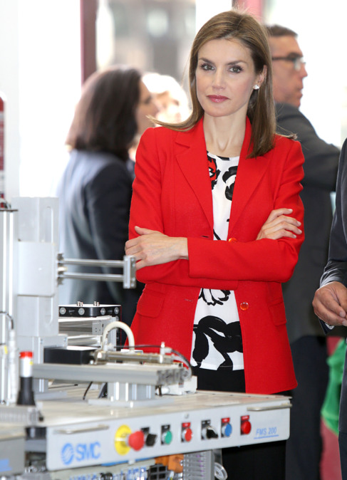 Doña Letizia durante una visita a las aulas de formación de la...