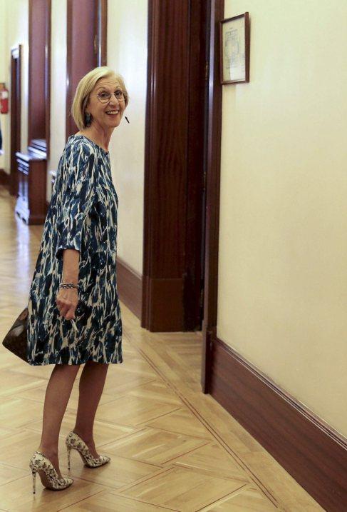 La líder de UPyD, Rosa Díez, la semana pasada en el Congreso.