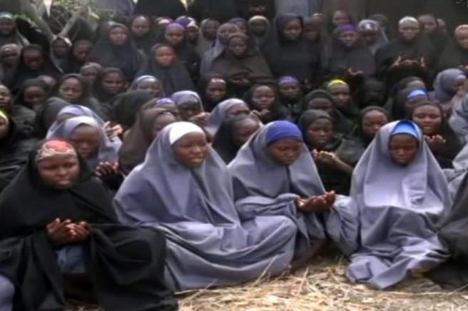 Imagen de las niñas capturadas en un vídeo distribuido por el grupo...