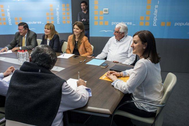 El comité de listas, reunido bajo la coordinación de María José...