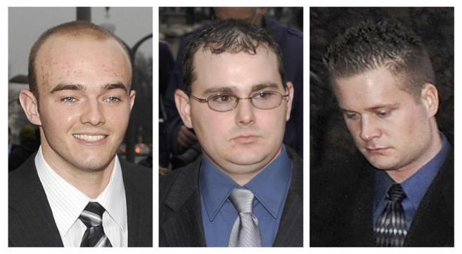 Nick Slatten, Dustin Heard y Evan Liberty, tres de los condenados por...