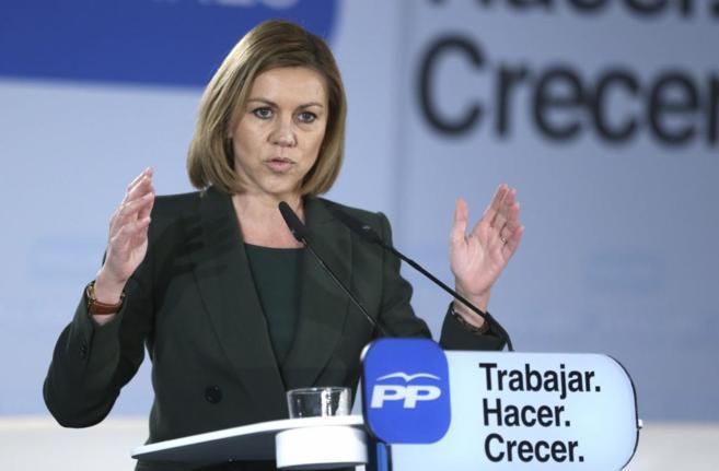 María Dolores de Cospedal, en la presentación del programa electoral...