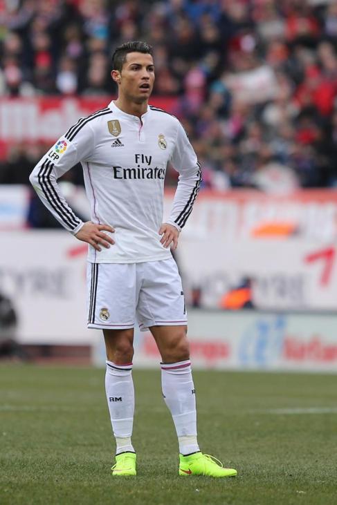 Cristiano Ronaldo, durante el pasado derbi liguero del Calderón.