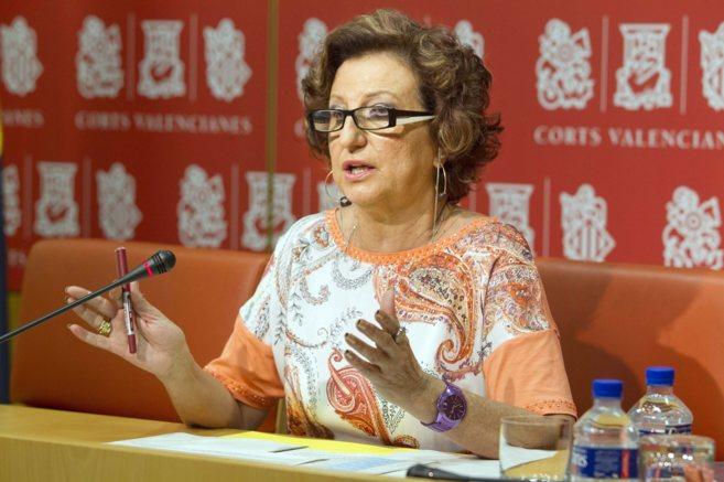 La diputada Marisol Linares, durante una rueda de prensa en su etapa...