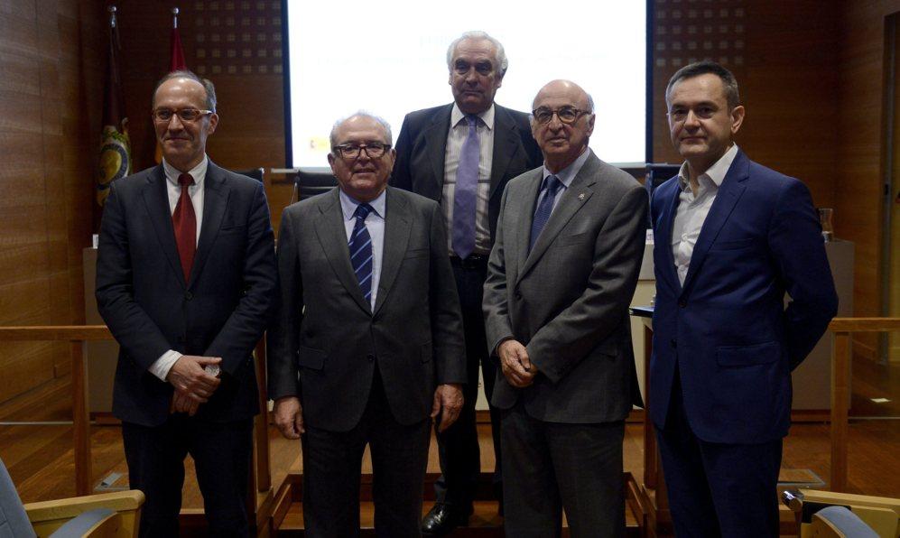 Senen Barro, Eduardo Serra, José Molero, Elías Ferreres y José...