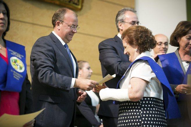 El presidente de Extremadura Jose Antonio Monago, en un acto con...