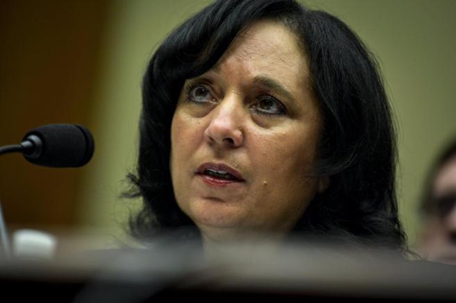 Michele Leonhart, directora de la DEA, durante la presentación del...