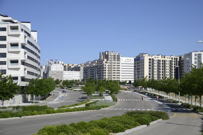 Imagen del entorno urbanístico de Valdebebas, donde se asientan...
