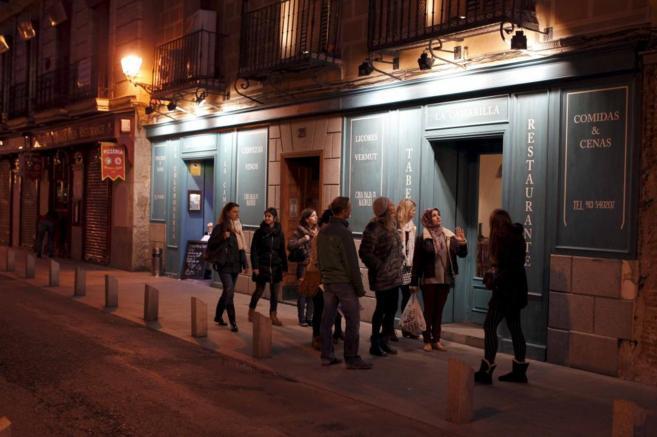 Calle de bares y restaurantes de Madrid