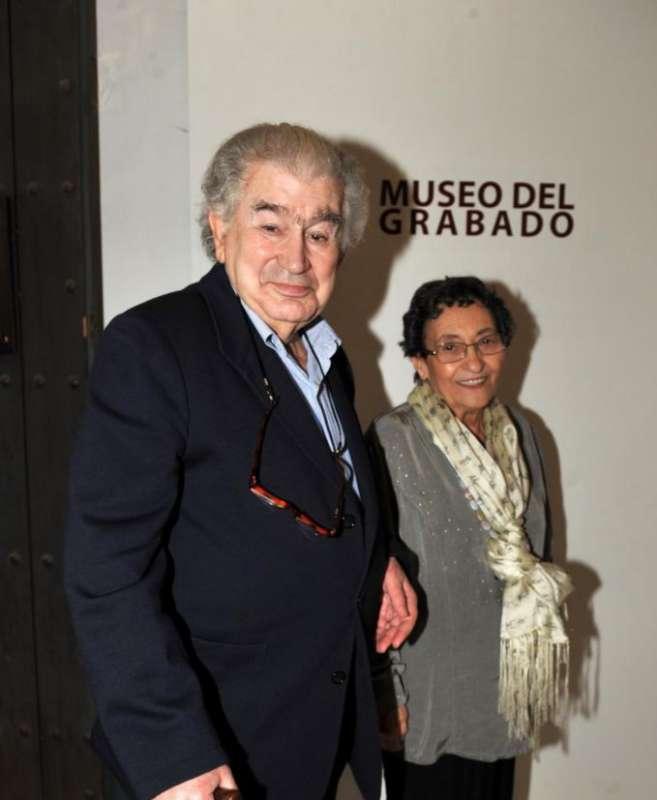Antonio Gamoneda y Francisca Aguirre en el Museo del Grabado