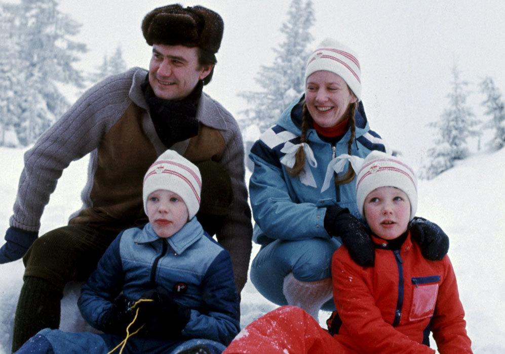 Foto de familia durante unas vacaciones en Noruega.