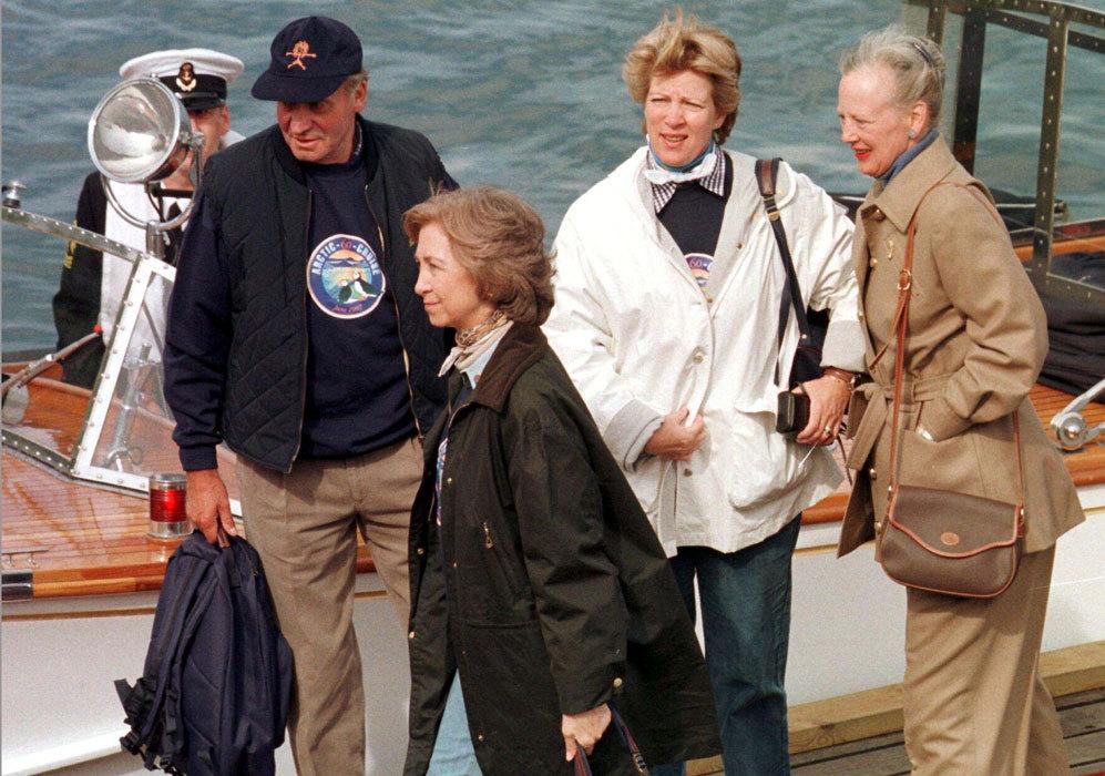 La reina Margarita coincidió con Don Juan Carlos y Doña Sofía...