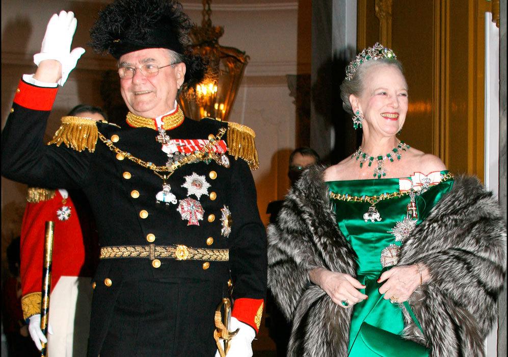 Dieron la bienvenida al año 2007 con una cena de gala en Copenhague.