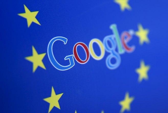 El logo de Google dentro del de la UE