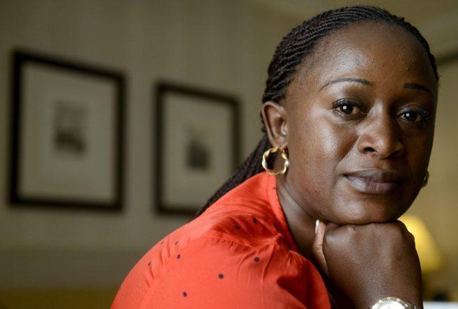 La periodista Caddy Adzuba, en un momento de la entrevista.