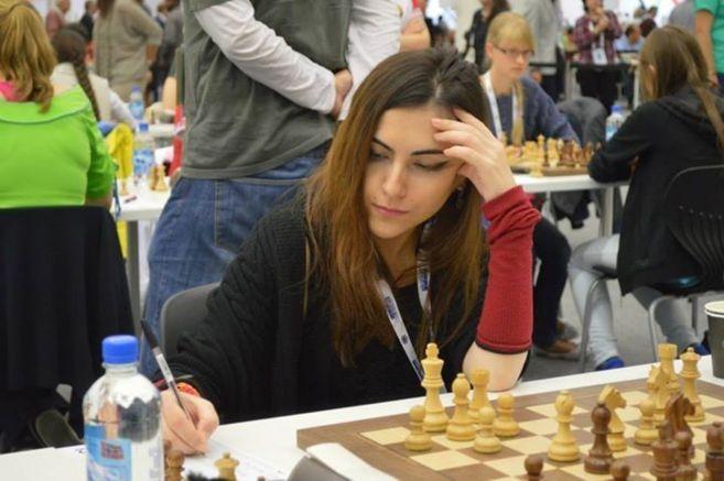 Ana Matnadze, en una partida. FOTO CEDIDA POR AJEDREZ SOCIAL DE...