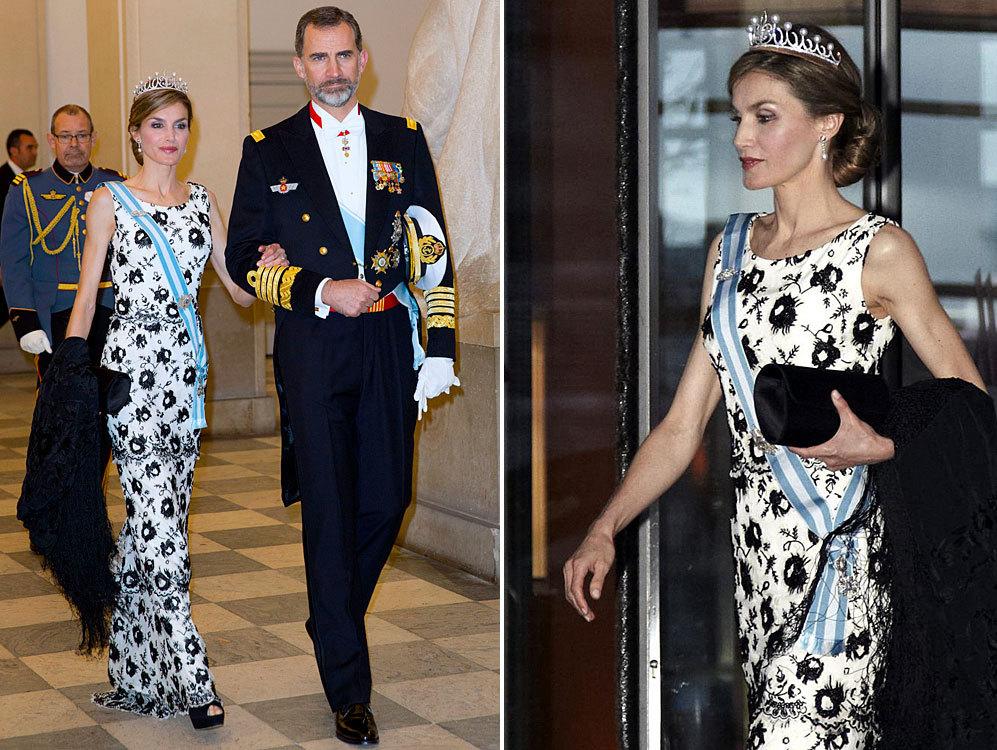 Los Reyes Felipe y Letizia se estrenan en este acto ante las realezas...