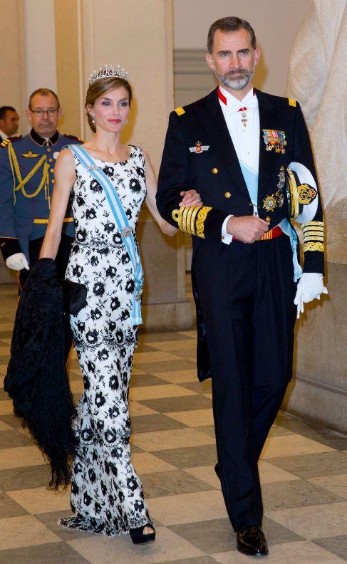 Los Reyes, en el 75 cumpleaños de Margarita de Dinamarca.