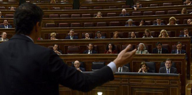 Pedro Sanchez durante su discurso en el Congreso