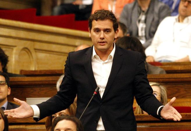 Albert Rivera, en un pleno de control al Govern en el Parlament de...