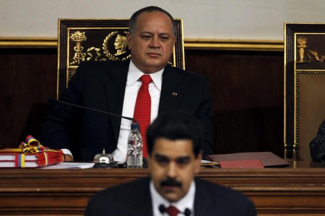 El presidente Diosdado Cabello durante la intervención del entonces...
