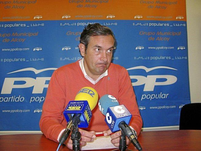 El portavoz del Partido Popular de Alcoy, Fernando Pastor.