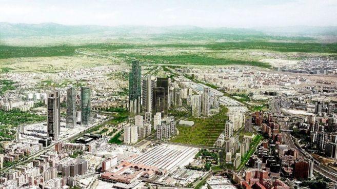 Recreación de cómo será Distrito Castellana Norte, junto al...