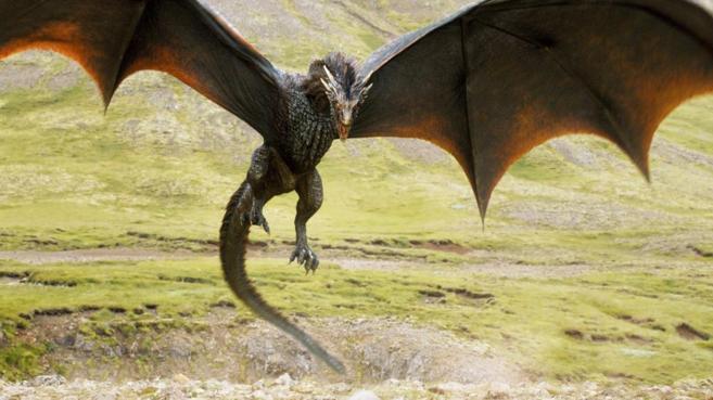 Uno de los dragones de la serie Juego de tronos.