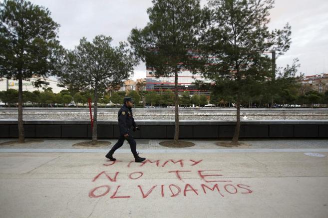 Inmediaciones del Vicente Calderón, donde el 30 de noviembre fue...