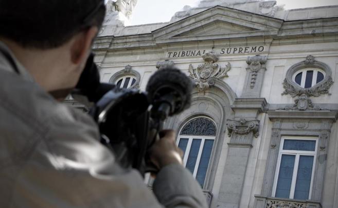 Imagen de archivo de la fachada de  la sede del Tribunal Supremo en...