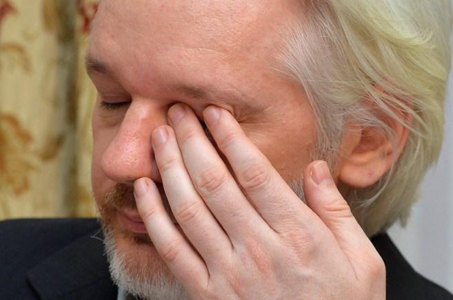 El fundador de WikiLeaks, Julian Assange, en una conferencia de prensa...