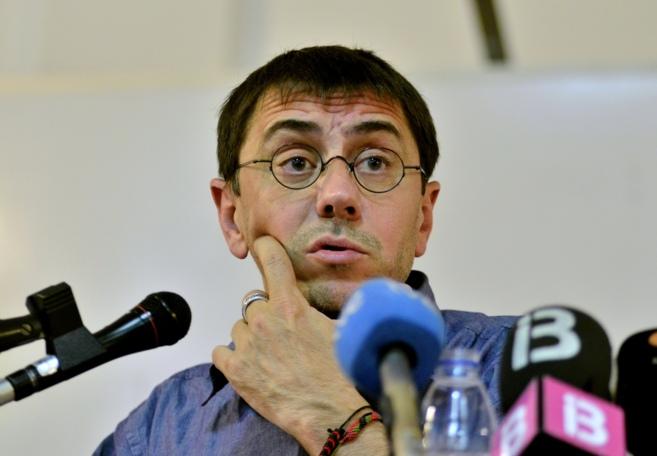 El secretario de programa de Podemos, Juan Carlos Monedero, durante la...