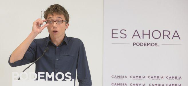 El secretario de Política y jefe de campaña de Podemos, Íñigo...
