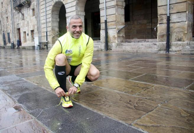 Marcos Argumosa, minutos antes de iniciar su desafío contra el...