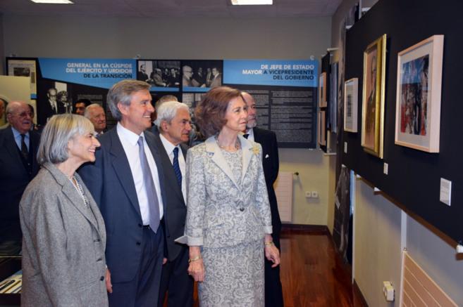 La reina Sofía, durante su visita