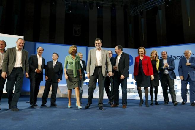 El presidente del Gobierno, Mariano Rajoy, en la presentación de los...