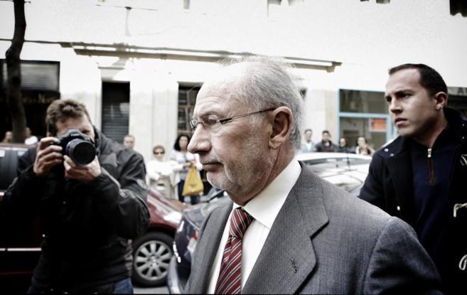 Rodrigo Rato llega a su despacho de la calle Castelló para el...