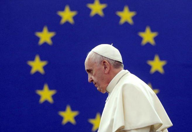 El Papa, durante una visita al Parlamento europeo en Estrasburgo.