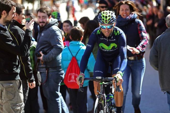 El ciclista español del Movistar, en una etapa de la Volta a...