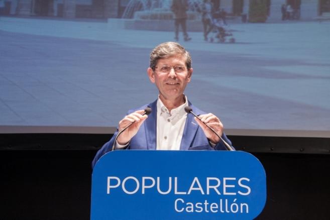 Alfonso Bataller, durante el acto de presentación de su candidatura...