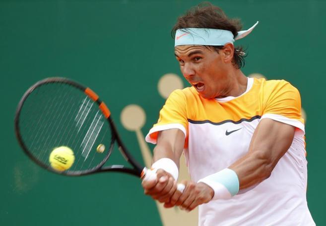 Rafa Nadal, durante el partido de semifinales ante Djokovic.