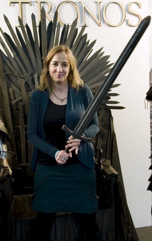 Tania Sánchez, este sábado en el Salón del Cómic de Barcelona.
