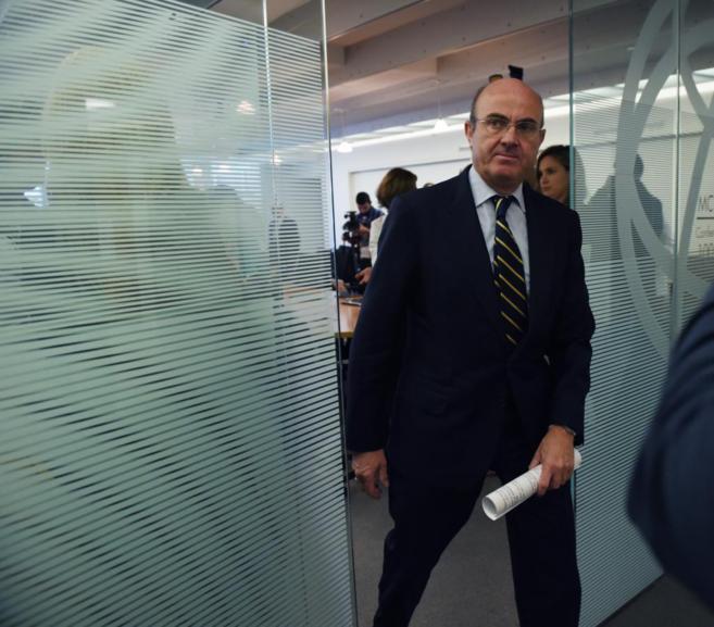 El Ministro de Economía y Competitividad de España, Luis de Guindos.