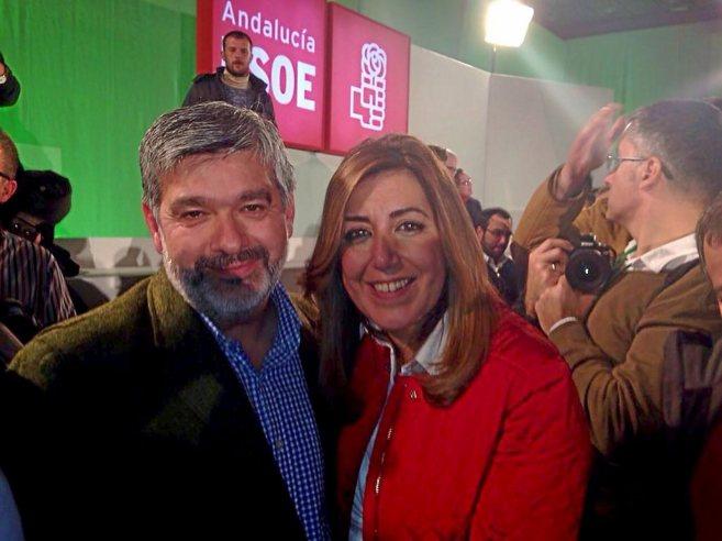 El candidato de la Alcaldía de Écija, David García Ostos, con...