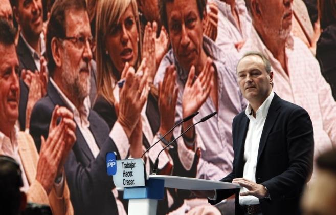 Alberto Fabra durante su intervención, este domingo, en el acto del...