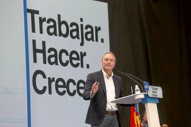 Alberto Fabra, durante su intervención en un acto del partido en...