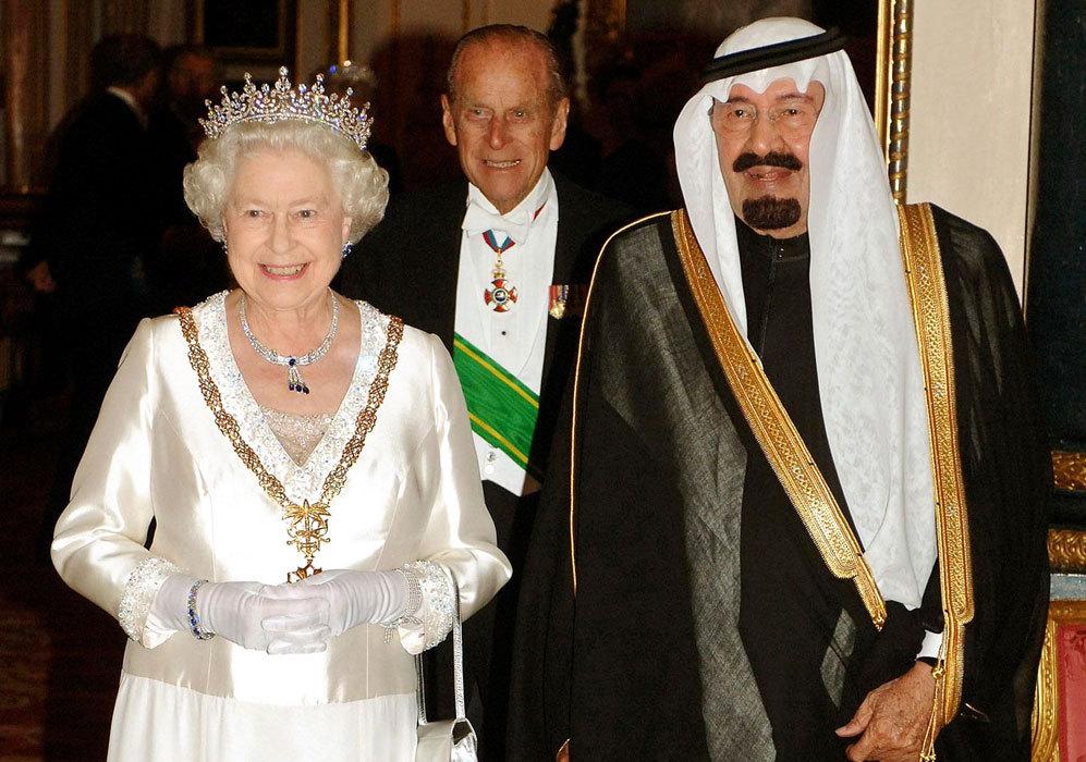 En 2007, la reina recibió al rey Abdala de Arabia Saudí en el...